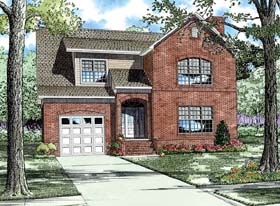 House Plan 62224 | Style Plan with 3202 Sq Ft, 3 Bedrooms, 3 Bathrooms, 1 Car Garage Elevation