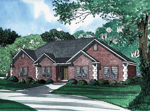 House Plan 62227 Elevation