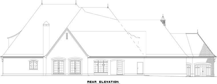 House Plan 62230 Rear Elevation