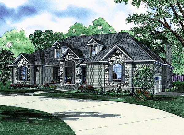 House Plan 62231 with 3 Beds, 4 Baths, 2 Car Garage Elevation
