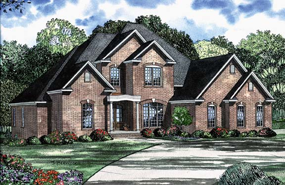 House Plan 62232 with 5 Beds, 5 Baths, 3 Car Garage Elevation