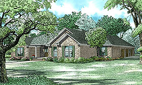 House Plan 62233 | Traditional Style House Plan with 2096 Sq Ft, 3 Bed, 3 Bath, 3 Car Garage Elevation