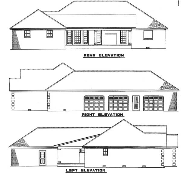 Traditional House Plan 62233 Rear Elevation