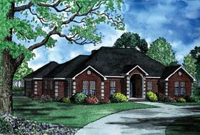 House Plan 62234 Elevation