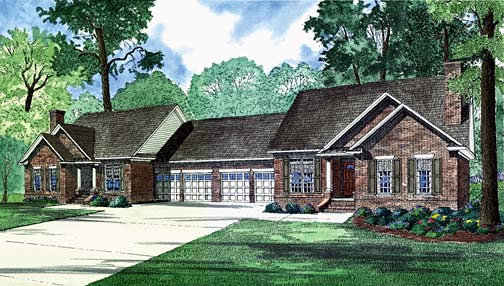 Multi-Family Plan 62237 Elevation