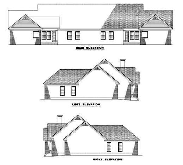 Multi-Family Plan 62237 Rear Elevation