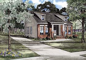 House Plan 62241 with 3 Beds, 2 Baths, 2 Car Garage Elevation