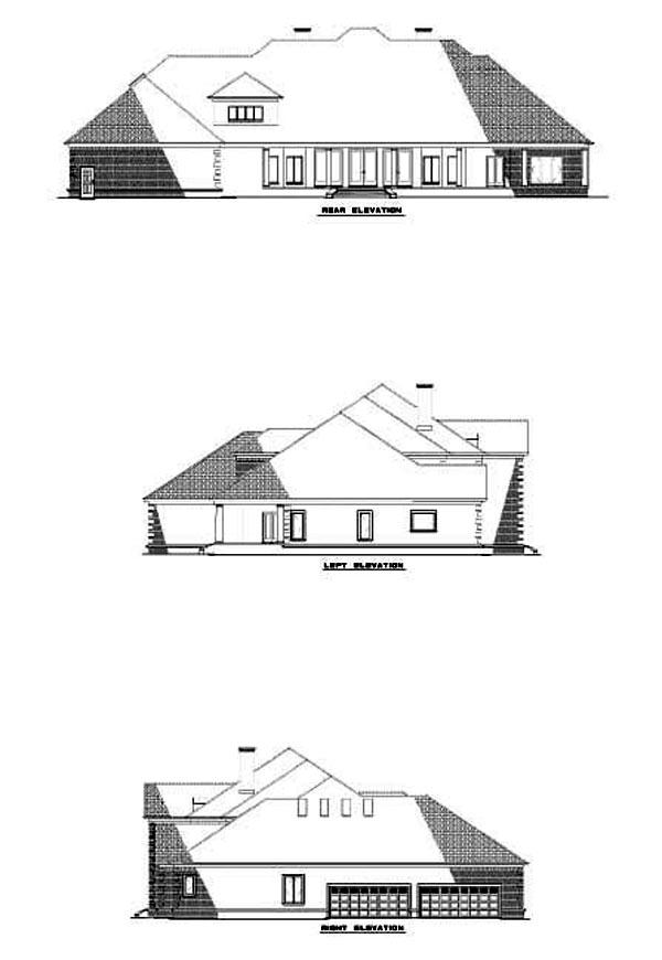 House Plan 62243 Rear Elevation