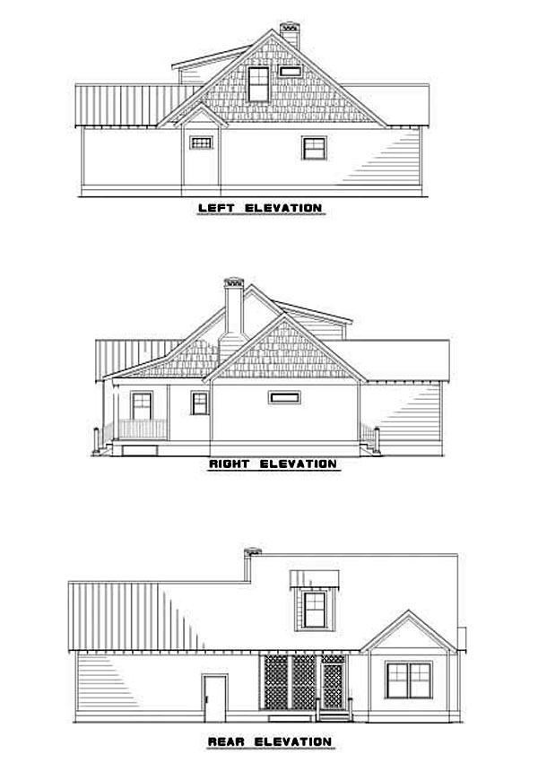 House Plan 62245 Rear Elevation