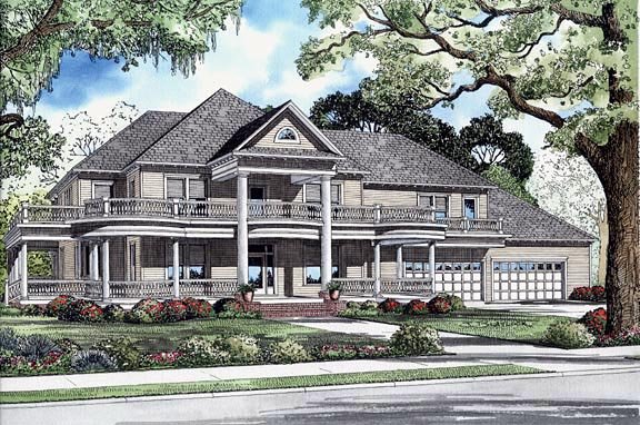 House Plan 62247 with 6 Beds, 5 Baths, 4 Car Garage Elevation