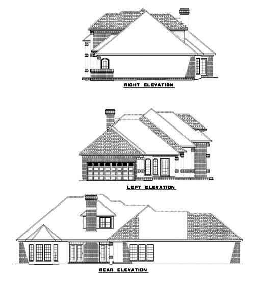 House Plan 62248 Rear Elevation