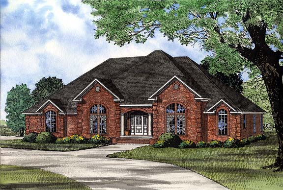 House Plan 62250 Elevation