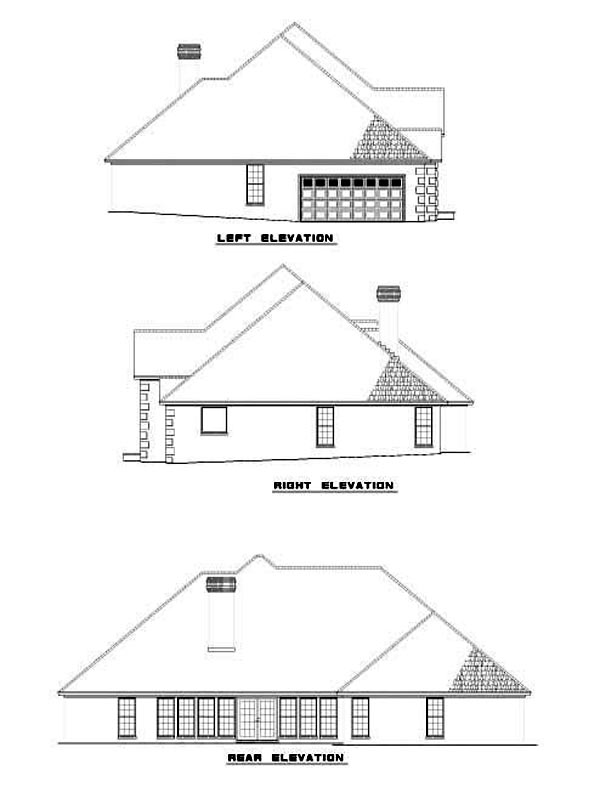 House Plan 62250 Rear Elevation