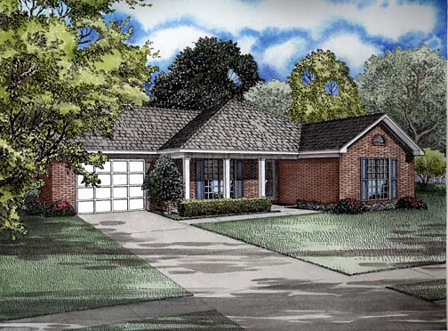 House Plan 62251 Elevation