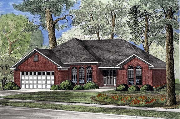 House Plan 62253 Elevation