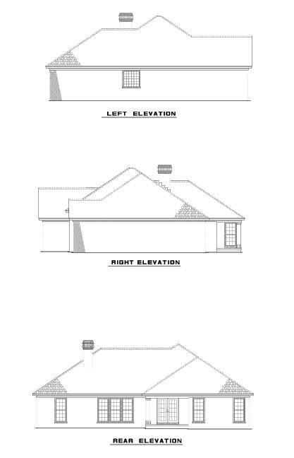 House Plan 62253 Rear Elevation