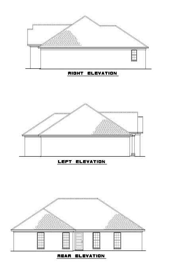 House Plan 62257 Rear Elevation