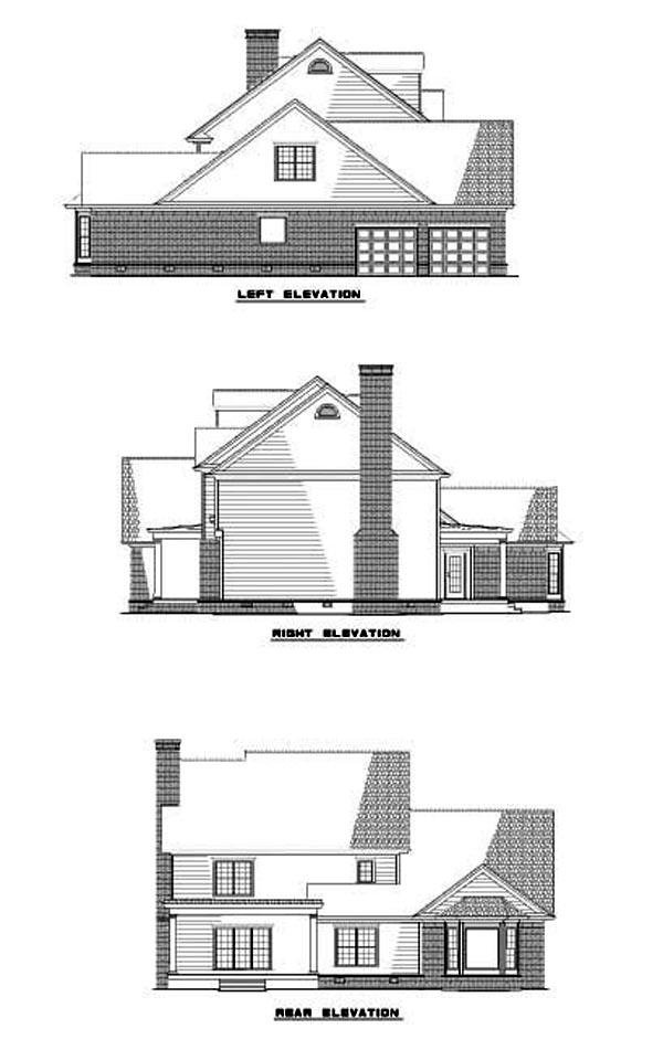 House Plan 62258 Rear Elevation
