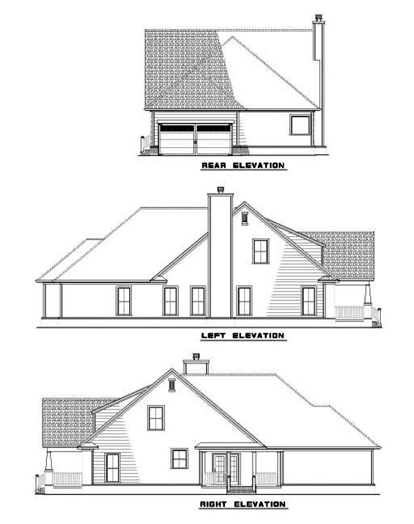 House Plan 62260 Rear Elevation