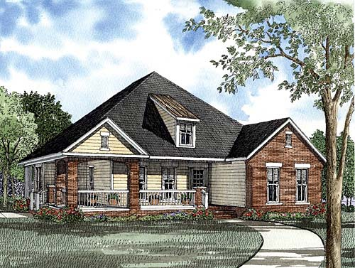 House Plan 62261 with 3 Beds, 2 Baths, 2 Car Garage Elevation