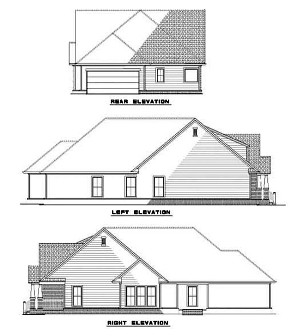 House Plan 62262 Rear Elevation