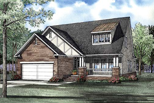 Country Tudor House Plan 62265 Elevation