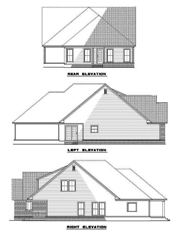 Country Tudor House Plan 62265 Rear Elevation
