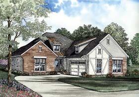 House Plan 62266 with 3 Beds, 2 Baths, 2 Car Garage Elevation