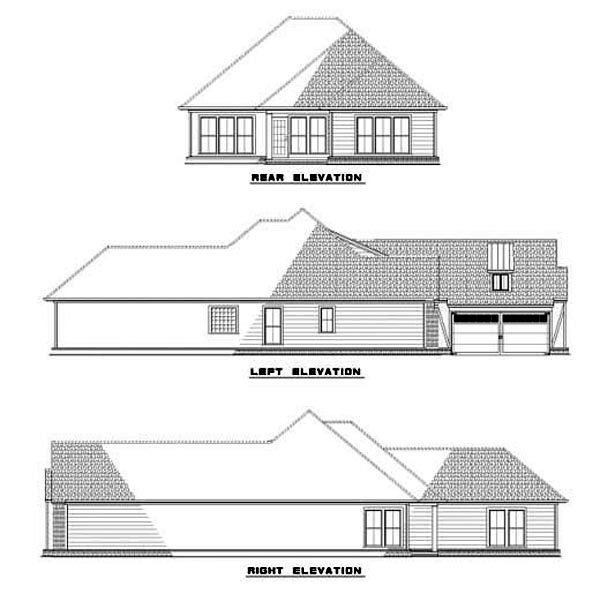 House Plan 62266 Rear Elevation