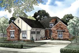 House Plan 62267 with 2 Beds, 2 Baths, 2 Car Garage Elevation