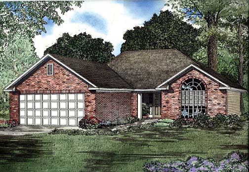 One-Story House Plan 62270 with 2 Beds, 2 Baths, 2 Car Garage Elevation