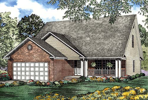House Plan 62272 Elevation