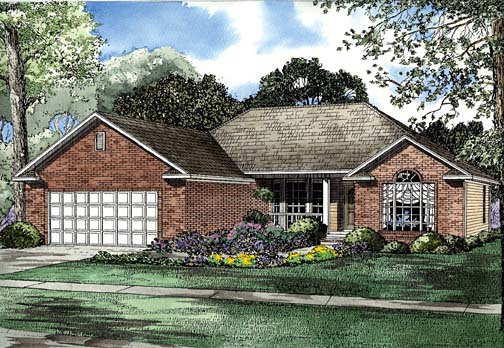 House Plan 62273 Elevation
