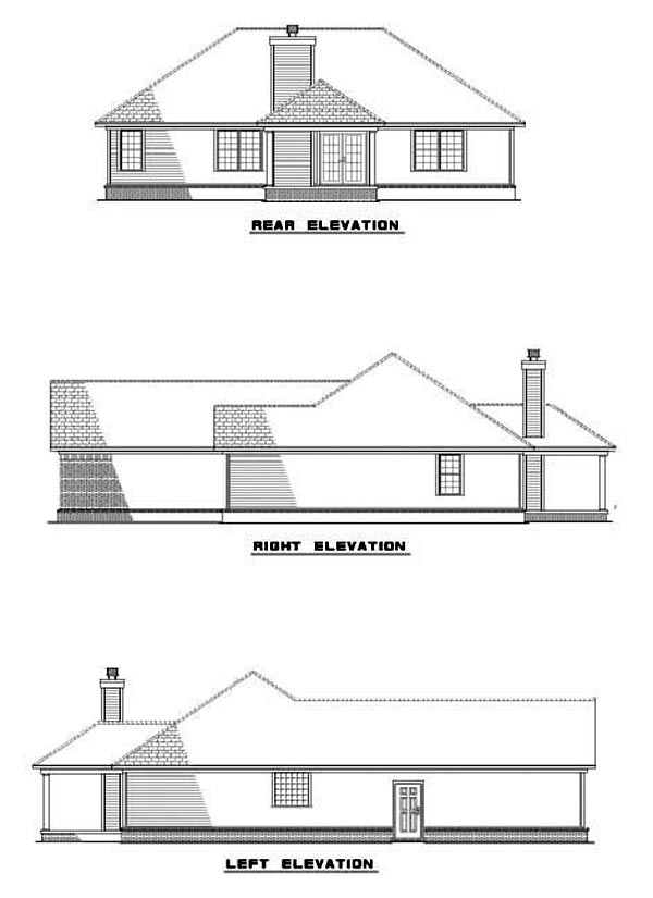 House Plan 62273 Rear Elevation