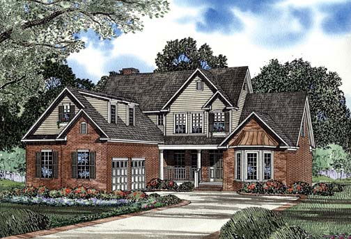 House Plan 62275 with 4 Beds, 3 Baths, 2 Car Garage Elevation