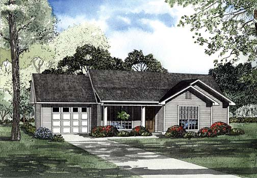 House Plan 62276 Elevation