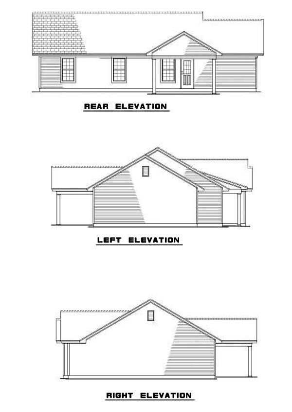 House Plan 62276 Rear Elevation