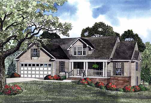 House Plan 62280 Elevation