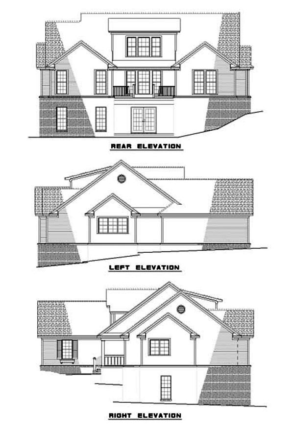 House Plan 62280 Rear Elevation