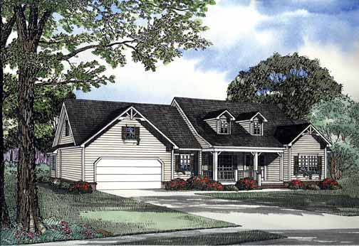 House Plan 62281 Elevation