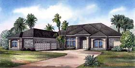 House Plan 62284 | Style House Plan with 3654 Sq Ft, 3 Bed, 3 Bath, 3 Car Garage Elevation