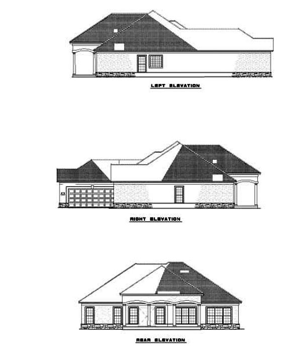 House Plan 62285 Rear Elevation