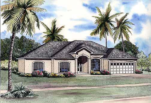 House Plan 62286 Elevation