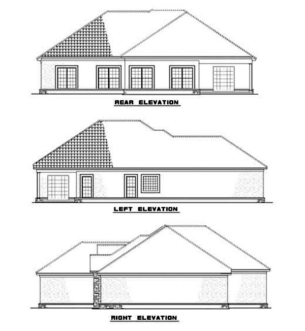 House Plan 62287 Rear Elevation