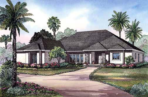 House Plan 62290 with 4 Beds, 3 Baths, 3 Car Garage Elevation