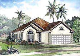 House Plan 62291 | Style House Plan with 1818 Sq Ft, 3 Bed, 2 Bath, 2 Car Garage Elevation