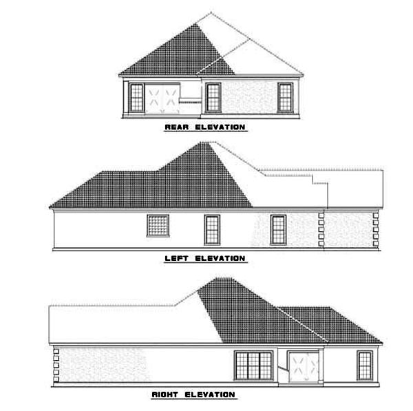 House Plan 62291 Rear Elevation