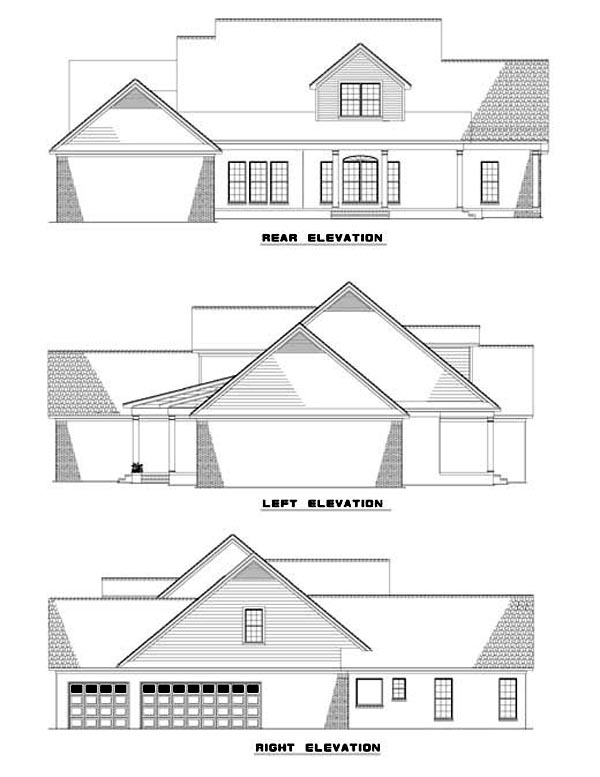 House Plan 62297 Rear Elevation