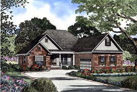 House Plan 62298 with 3 Beds, 2 Baths, 2 Car Garage Elevation