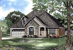 House Plan 62300 Elevation
